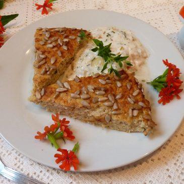 Zapiekanka z kalafiora z sosem warzywno-tymiankowym