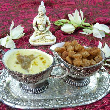 Zupa krem z białej kapusty z curry