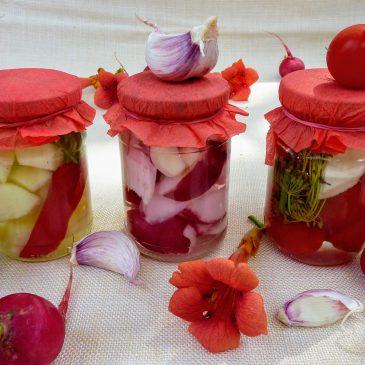 Kiszona rzodkiewka, cukinia i pomidory