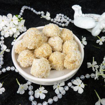 Kokosowe kulki z migdałami
