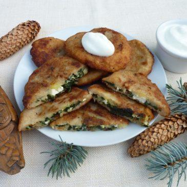 Moskole z serem i szpinakiem
