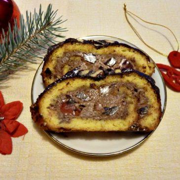 Bezglutenowa rolada z kremem czekoladowym i galaretką