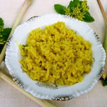 Ryż brązowy z trawą cytrynową, kokosem i imbirem