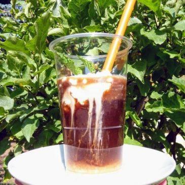 Mrożona kawa inka z kremem kokosowym