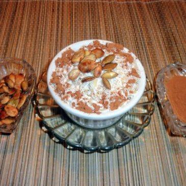 Brązowy ryż na mleku kokosowym z cynamonem
