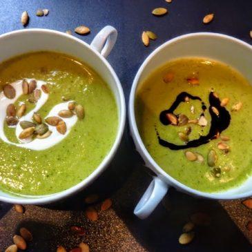Wegańska zupa krem brokułowo-selerowa