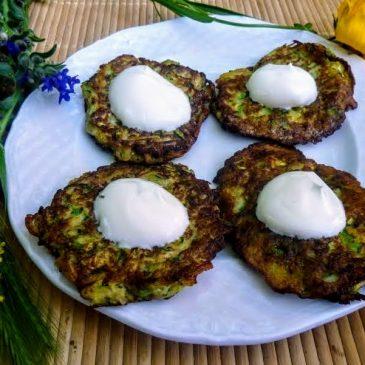 Placki szparagowo-cukiniowo-ziemniaczano-cebulowe (bezglutenowe)