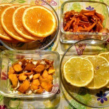 Suszona skórka z cytryny i pomarańczy